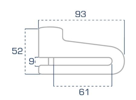 Blokada tarczy hamulcowej URBAN Diskpractic trzpień 7mm