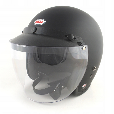 Kask BELL Custom 500 black matt z wizjerem 3-SNAP SLIP CLEAR