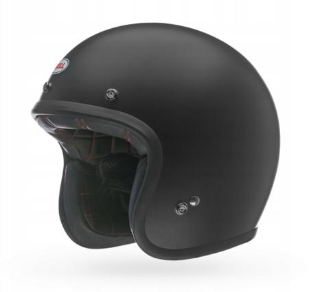 Kask BELL Custom 500 black matt z wizjerem dark smoke
