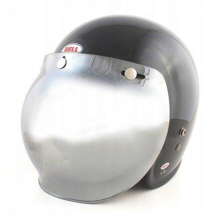 Kask BELL Custom 500 black  z wizjerem bubble silver