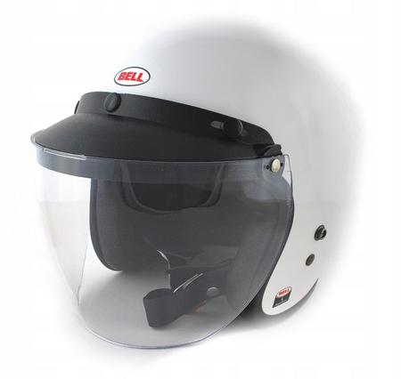 Kask BELL Custom 500 white z wizjerem 3-SNAP SLIP CLEAR
