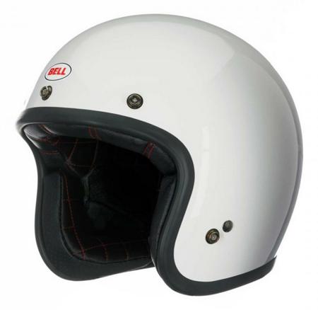 Kask BELL Custom 500 white z wizjerem dark smoke