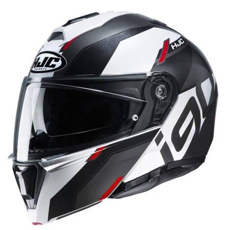 Kask HJC i90 Aventa black / white / red