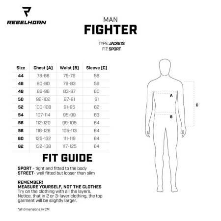 Kombinezon 2 częściowy REBELHORN Fighter black