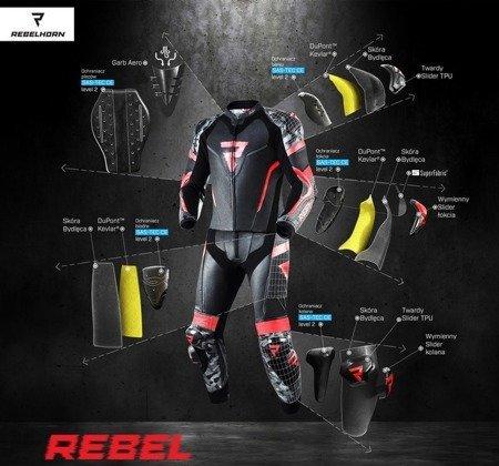 Kombinezon 2 częściowy REBELHORN Rebel black