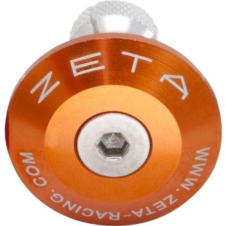 Końcówki kierownicy ZETA pomarańczowe 35 mm ZE48-7109