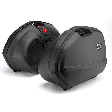 Kufry  KAPPA K33 czarny Monokey 2szt L i P