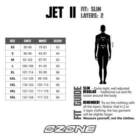 Kurtka OZONE Jet II popiel