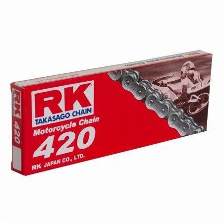 Łańcuch napędowy RK 420 M 120 ogniw otwarty z zapinką klipsem