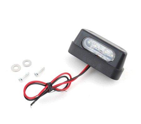Oświetlenie LED tablicy rejestracyjnej - czarna - homologacja