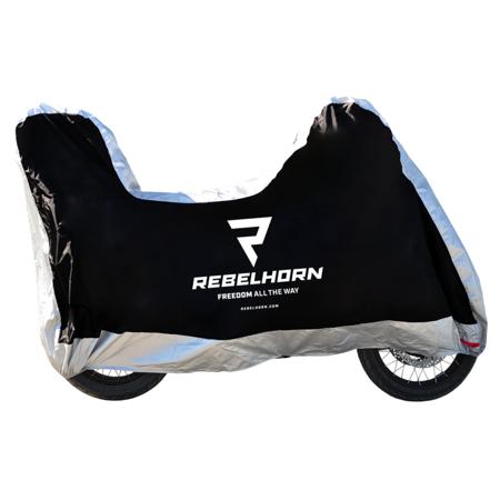 Pokrowiec na motocykl REBELHORN Cover II Top Box - wodoodporny z miejscem na kufer rozmiar M
