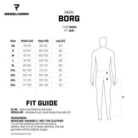 Spodnie REBELHORN Borg black